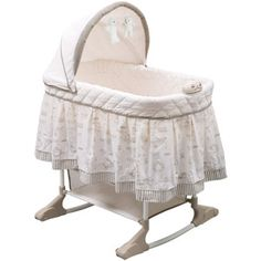 Delta Enterprises Playtime Rocking Bassinet, Beige