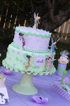 Tinker Bell Birthday Cake on Jadeite Cake Stand                                                                                                                                                                                 More