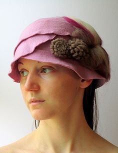Wet Felted Cloche Hat by HandiCraftKate