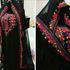Embroidery On Kurtis, Hand Embroidery Dress, Kurti Embroidery Design, Embroidery Neck Designs, Sashiko Embroidery, Indian Gowns Dresses, Pakistani Dresses, Indian Outfits, Afghan Clothes