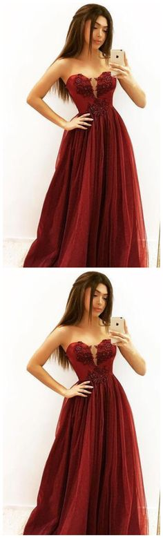 BURGUNDY SATIN LONG PROM DRESS, BLUE EVENING DRESS,AE663 by Sfaivodresses, $148.38 USD Blue Evening Dresses, Evening Party Gowns, A Line Prom Dresses, Party Dresses, Red Fashion, Fashion Dresses, Formal Prom, Dress Collection, Lace Dress