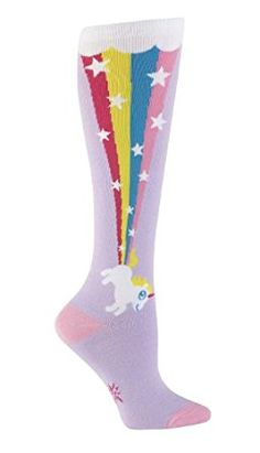 Sock It To Me Womens Funky Knee High Socks - Rainbow Blast: Amazon.co.uk: Clothing