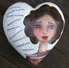 Tracy Easson: Mixed Media whimsical heart with DecoArt Media