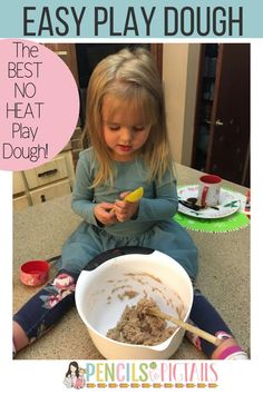 This easy gingerbread play dough recipe is the best and perfect to whip up to use in your home or classroom because there is no heat required! It has the perfect consistency and makes the whole house smell so good! #homemadeplaydough #toddleractivities #diyplaydough