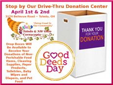 Visit the T&NWOC Resource Center on April 1-2 to take part in Good Deeds Day promoting volunteering and community outreach.  T&NWOC is conducting a fundraiser and neighborhood beautification project in the area of Monroe Street, Douglas Road and Central Avenue.  There will be various activities throughout the weekend, including a Princess Sidewalk Parade and lunch with Belle (courtesy of Point Place Princess Parties) at 10:30 a.m. on Saturday, April 1st, food, refreshments, entertainment…