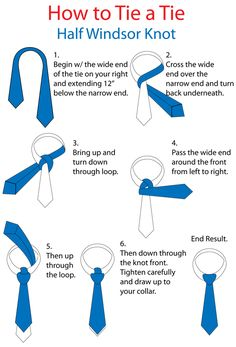 Half Windsor Knot... This will be super useful haha