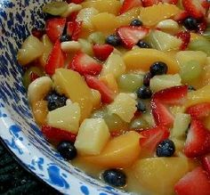 Fruit Salad with Pudding
