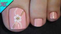Toenail Art Designs, Pedicure Designs, Manicure E Pedicure, Pretty Toe Nails, Cute Toe Nails, Pink Nail Art, Toe Nail Art, Flower Nail Art, Stylish Nails