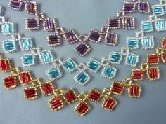 FREE beading pattern for Alexia Necklace, made from bugle and seed beads