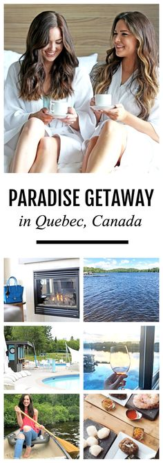 You NEED to vacation here! The ultimate getaway! | Fashion and travel blogger Michelle Kehoe of Mash Elle shares her experience at the Esterel Resort in Esterel, Quebec, Canada. This resort has all the amenities you'd ever need, including: canoeing, paddle boarding, a Nordic spa, boating, a golf course, hiking trails, winter activities, a spa, three luxurious restaurants, a private patio and beach, private hot tubs and more! #ad