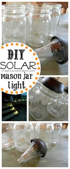 DIY Solar Mason Jar Lights, Great for Outdoor Space~Creative Cain Cabin