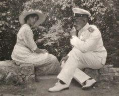 Tatiana and Sablin. Around Yalta. 1914.