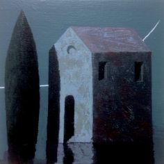 Matthias Brandes, Capriccio Lagunare, 2016, oil and tempera on canvas, 15 x 15…