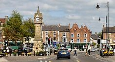 Thirsk Market Place.  The inspiration for James Herriot's Darrowby