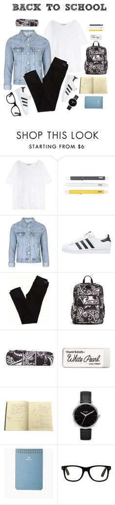 """""""#28 Back To School Outfit (4)"""" by konstantina00085 ❤ liked on Polyvore featuring Acne Studios, Topshop, adidas Originals, American Eagle Outfitters, Vera Bradley, Paper Mate, Nixon, Postalco, BackToSchool and thankyou"""