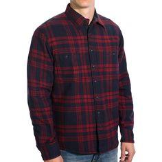 gant-c-campus-flannel-shirt-jacket-quilted-lining-for-men-in-maroon Flannel Shirts, Shirt Jacket, Flannel Shirt