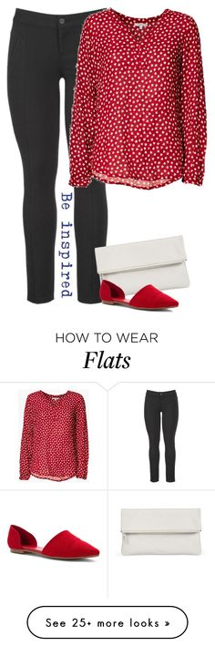 """Red and White Hearts"" by cloudybooks on Polyvore featuring maurices, Whistles and Chinese Laundry"