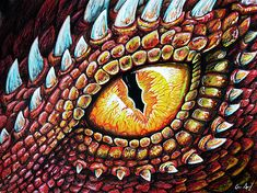 Dragon Eye Metal Print by Aaron Spong. All metal prints are professionally printed, packaged, and shipped within 3 - 4 business days and delivered ready-to-hang on your wall. Fantasy Dragon, Fantasy Art, Dragon Eye Drawing, Smaug Dragon, Wings Sketch, Dragon Heart, Elephant Art, Amazing Drawings, Eye Art