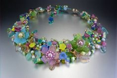 Floral Fantasy Wire Work Jewelry by Mary Lowe - The Beading Gem's Journal