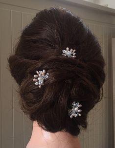 Mia pelo alfileres perla y horquillas de por IvyandPearlBridal