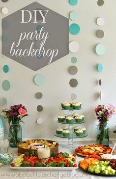 DIY Party Decor Backdrop Garland Easy Decorations Diy Baby Shower