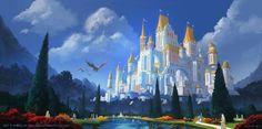 High Elves Castle by Andreas Rocha Fantasy landscape Fantasy castle Fantasy art landscapes