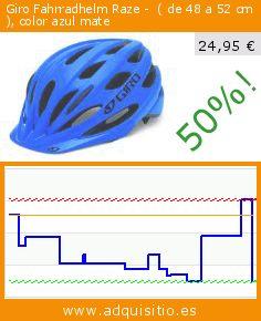 Giro Fahrradhelm Raze -  ( de 48 a 52 cm ), color azul mate (Deportes). Baja 50%! Precio actual 24,95 €, el precio anterior fue de 50,30 €. https://www.adquisitio.es/giro/fahrradhelm-raze-color-0