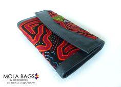 Geldbörse aus Leder mit Mola-Dekor von MOLA-BAGS auf DaWanda.com