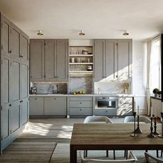 Premium House: The New Hues: Blue, Grey and Green in the Kitchen