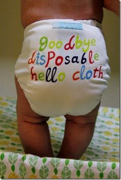 Good tips for cloth diapering.