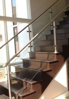 Check out this residential glass project done in Avon, OH by Great Lake Stair.  Stainless steel and glass are great compliments for stair railings, wouldn't you agree?
