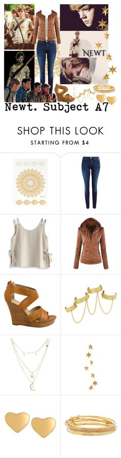 """""""Newt <3"""" by i-love-cassandra-clare ❤ liked on Polyvore featuring Paul Brodie, Lee, Chicwish, Seychelles, House of Harlow 1960, Charlotte Russe, Livingly, T Tahari and Kate Spade"""
