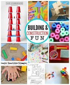 with Kids: Building and Construction Fun with Building and Construction - Awesome ideas for preschoolers this summer! // One Lovely LifeFun with Building and Construction - Awesome ideas for preschoolers this summer! // One Lovely Life Construction Theme Preschool, Construction For Kids, Construction Crafts, Toddler Activities, Learning Activities, Preschool Activities, 5 Year Old Activities, Fairy Tale Activities, Teaching Ideas