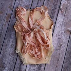 Ribbon & Lace Newborn Romper just listed!