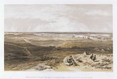 'Sebastopol from the East or Extreme Right of English Attack', by William Simpson, 1854 (lithograph). William Simpson (1823-99) was a Scottish painter who became noted for his depictions of the Crimean War (1853-6)