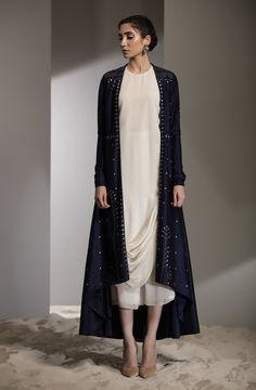 Laser Emb Anarkali Jacket With Inner Fabric Material: Dupion Silk Material Composition: Silk Care: Dry Clean Only Abaya Fashion, Indian Fashion, Boho Fashion, Fashion Dresses, Kurti Designs Party Wear, Kurta Designs, Blouse Designs, Pakistani Dress Design, Pakistani Outfits