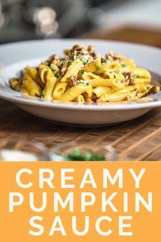 Wheat Pasta Recipes, Pasta Sauce Recipes, Healthy Pasta Sauces, Healthy Pastas, Pasta Dishes, Food Dishes, Pumpkin Benefits, Kitchen Recipes, Cooking Recipes