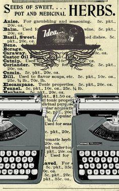 Hoy tocan láminas imprimibles con fondos vintage estilo gaceta.