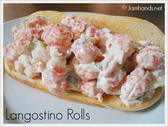Langostino Rolls at Jam Hands I just found wild caught langostino at Trader Joe's! I'll be trying this recipe today. Lobster Roll Recipes, Fish Recipes, Seafood Recipes, Great Recipes, Cooking Recipes, Favorite Recipes, Family Recipes, Lobster Rolls, Holiday Recipes