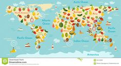 Fruit World Map. - Download From Over 45 Million High Quality Stock Photos, Images, Vectors. Sign up for FREE today. Image: 62418268