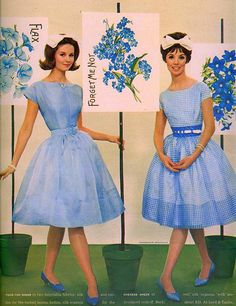 blue all over-'60s dresses