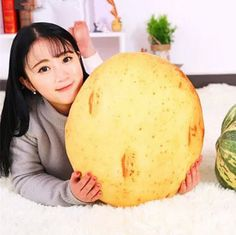3D potatoes throw pillows for couch lifelike vegetables plush toys