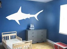 Great White Shark Wall Decal   Wall Art   Home Decor   Nautical Decor    Travel Part 92