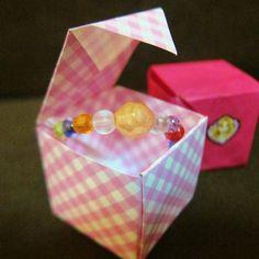 折り紙1枚で折れる蓋付きギフトボックスの作り方   nanapi [ナナピ]