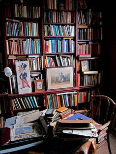 Bookshelves. Entire lives imprisoned between boards. via spitalfieldslife.com