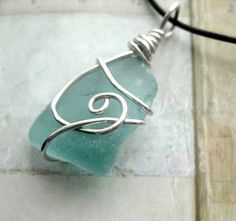 Aqua Sea Swirl Pendant... <3