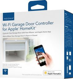 Insignia - Wi-Fi Garage Door Controller for Apple HomeKit - White Garage Door Sensor, Garage Door Lock, Garage Door Styles, Garage Door Opener Installation, White Garage Doors, Apple Homekit, Wifi Router, App Control