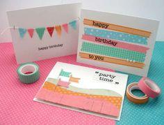 De jolies cartes d'anniversaire. 23 créations scotchantes avec du ruban washi
