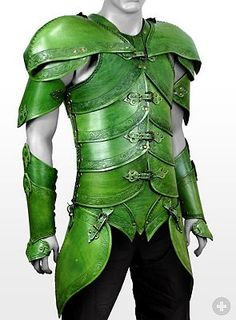 Leather armor: medieval or fantasy armor made of leather, for LARP Elf Armor, Larp Armor, Crea Cuir, Armadura Medieval, Pauldron, Leather Armor, Fantasy Armor, Fantasy Costumes, Body Armor