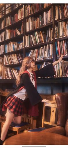 Asian Cute, Libraries, Books To Read, Kawaii, Cosplay, Space, Reading, Fashion, Floor Space